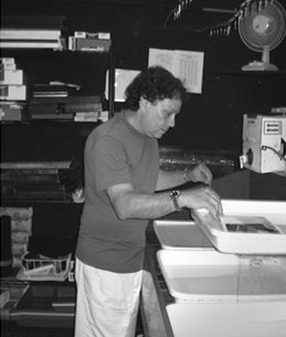 Steven Nestler in the darkroom, 2009